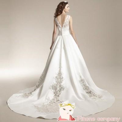 ロングドレス パーティードレス カラードレス 二次会 イブニングドレス ワンピース 同窓会 ホワイト 豪華なウェディングドレス 格安 結婚式ドレス 演奏会