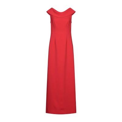 パロッシュ P.A.R.O.S.H. ロングワンピース&ドレス レッド M ポリエステル 96% / ポリウレタン 4% ロングワンピース&ドレス