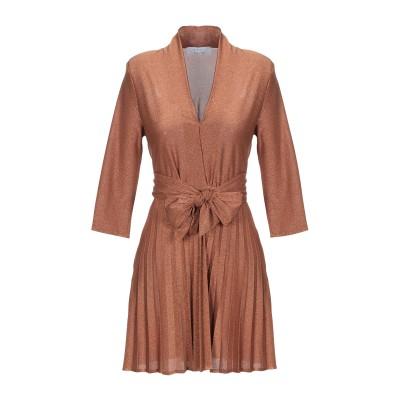 カオス KAOS ミニワンピース&ドレス ブラウン 42 ポリエステル 78% / ナイロン 17% / ポリウレタン 5% ミニワンピース&ドレス