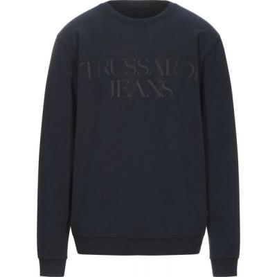 トラサルディ TRUSSARDI JEANS メンズ スウェット・トレーナー トップス sweatshirt Dark blue