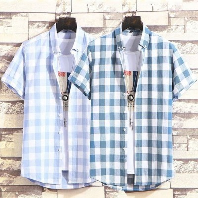 シャツ メンズ カジュアルシャツ メンズ 半袖 無地 トップス アウトドア 通勤 薄て シャツ アメカジ 2020春夏新作