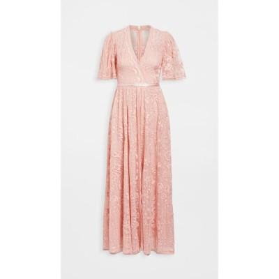 ニードル アンド スレッド Needle & Thread レディース パーティードレス ワンピース・ドレス Trudy Belle Ankle Length Gown Desert Pink