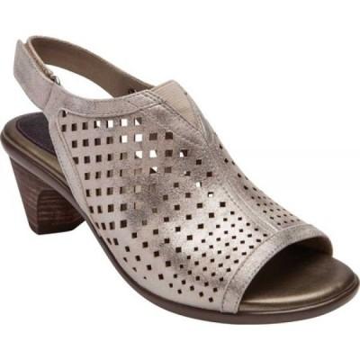 アラヴォン Aravon レディース サンダル・ミュール シューズ・靴 Medici Peep Slingback Sandal Metallic Dove Leather