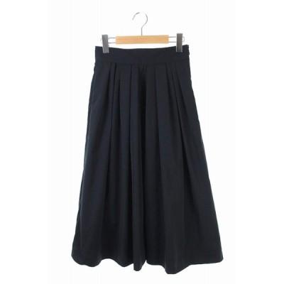 【中古】ボールジー BALLSEY トゥモローランド ギャザースカート ロング 32 黒 /KN ■OS  レディース 【ベクトル 古着】