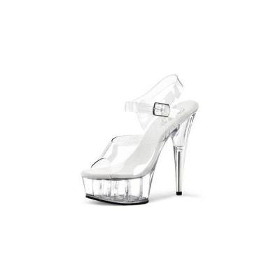 """プリーザー pleaser サンダル DELIGHT-608 6"""" Heel del608-c-m  ハイヒール レディース シューズ 靴 お取り寄せ商品"""