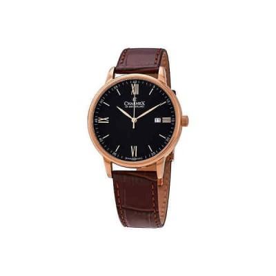 腕時計 シャーム メンズ Charmex Amalfi Quartz Black Dial Men's Watch 3031