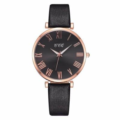 レディース腕時計女性2020ファッションクォーツレザー腕時計レロジオfeminino女性腕時計カジュアル時計女性腕時計リロイmujer black
