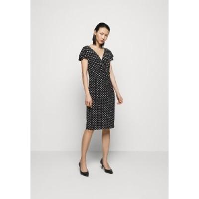 ラルフローレン レディース ワンピース トップス PRINTED MATTE DRESS - Shift dress - black black