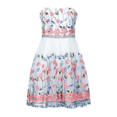FOREVER UNIQUE ミニワンピース&ドレス ホワイト 10 ポリエステル 100% ミニワンピース&ドレス