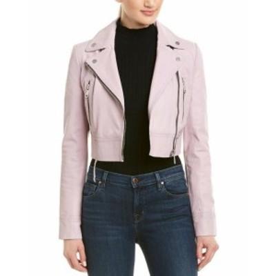 ファッション 衣類 Bagatelle City Cropped Leather Biker Jacket