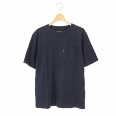 【中古】マディソンブルー MADISONBLUE 半袖 カットソー Tシャツ 胸ポケット クルーネック 01 紺 /AA ■OS メンズ