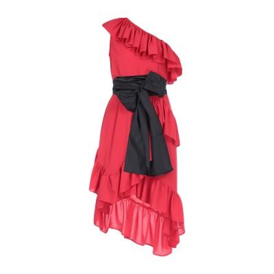 アイネア AINEA ミニワンピース&ドレス レッド 40 コットン 100% ミニワンピース&ドレス