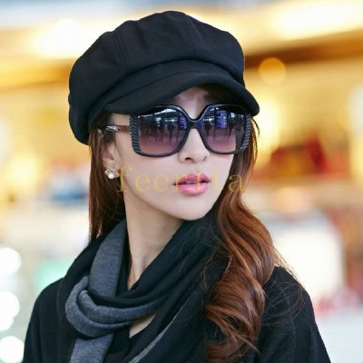 帽子キャスケットワークキャップカジュアル大人女子シンプル定番トレンド秋冬小顔効果レディース