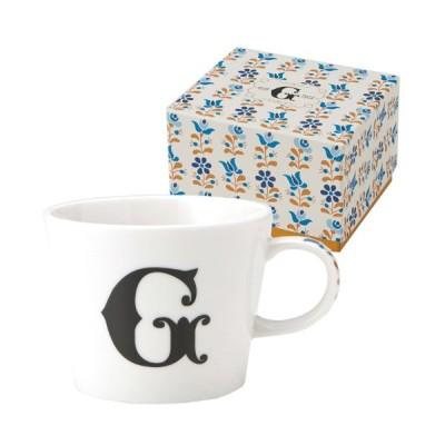 イニシャル ギフトパッケージ マグカップ アルファベット マグカップ G 東欧風ALPHABET MUG お洒落デザイン食器 陶器製
