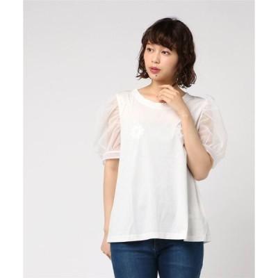 tシャツ Tシャツ XIAOLI/シャオリー/フラワーTシャツ