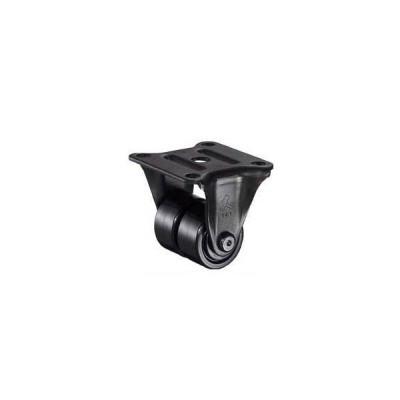 ハンマーキャスター 低床式中荷重用キャスター(ナイロン車輪・固定式ベアリング入)車輪径38mm 550R-BN238
