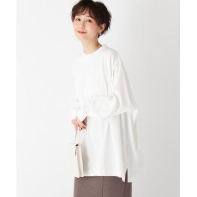 【オペークドットクリップ】 スペシャルコットン ロングスリーブ BIG Tシャツ レディース ホワイト 40(L) OPAQUE.CLIP
