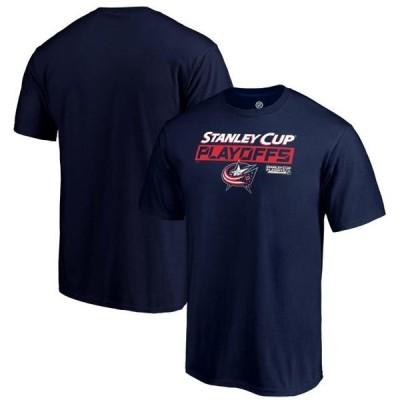 ユニセックス スポーツリーグ ホッケー Columbus Blue Jackets Fanatics Branded 2019 Stanley Cup Playoffs Bound Body Checking T-Shirt -
