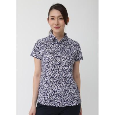 ZOY / 《ZOY》WOMENS リーフプリント半袖ポロシャツ WOMEN トップス > ポロシャツ