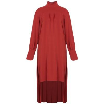 クロエ CHLOÉ ミニワンピース&ドレス 赤茶色 36 シルク 100% ミニワンピース&ドレス
