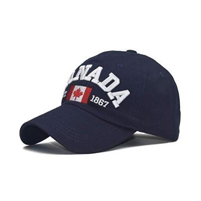 Canada Dad Hat メープルリーフフラッグキャップ 刺繍入り ユニセックス US サイズ: One_Size