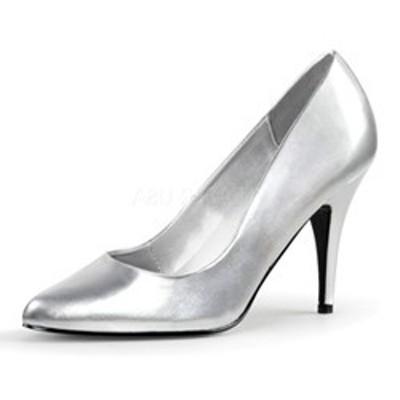 ポインテッドトゥ パンプス Pleaser プリーザー VANITY-420 4 Heel (van420-s-pu) プレーン ミドルヒール レディース 靴 お取り寄せ商品