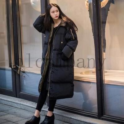 中綿コートレディースダウン風コート立ち襟大きいサイズ体型カバー韓流アウターコート防寒暖かいアウター無地2020