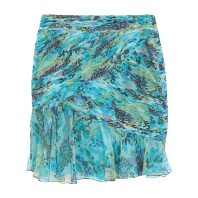 エマニュエル ウンガロ EMANUEL UNGARO ひざ丈スカート ターコイズブルー 46 シルク 100% ひざ丈スカート