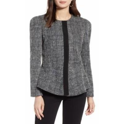 ファッション 衣類 Halogen Womens Jacket White Black Size Small S Button Front Career