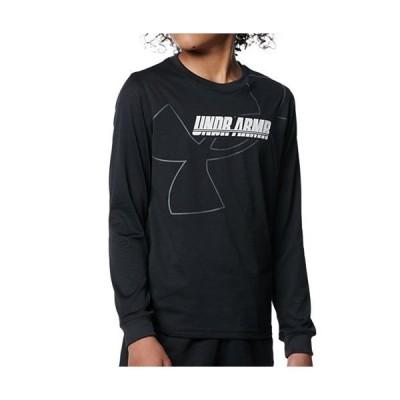 アンダーアーマー(UNDER ARMOUR) キッズ バスケットボール テック ロングスリーブ Tシャツ ロゴ ブラック 1368975 001 長袖 ロンT トレーニング