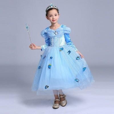 シンデレラ キッズ  ドレス コスチューム プリンセスドレス 衣装 子供 コスプレ ワンピース こども コス 仮装なりきり コスプレ子供ドレス 女の子 子供服W226A
