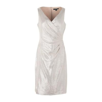 LAUREN RALPH LAUREN ミニワンピース&ドレス プラチナ 6 ポリエステル 95% / ポリウレタン 5% ミニワンピース&ドレス