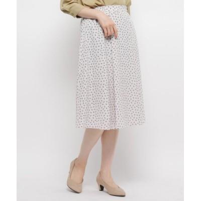 【ソフール】 ◆スクエアドットボックススカート レディース ホワイト 40(L) Sofuol
