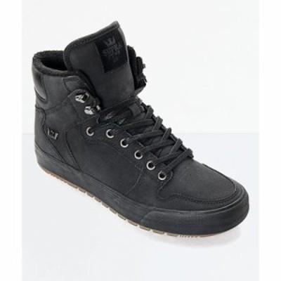 スープラ ブーツ Supra Vaider Cold Weather Black & Gum Boots Black