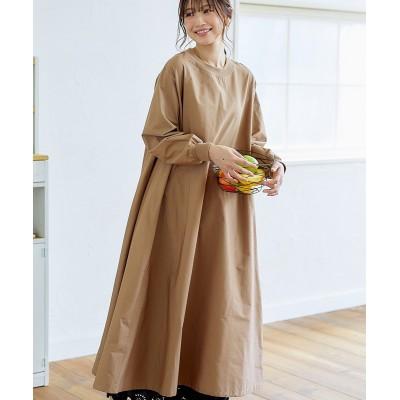 【お出かけできる家事服】袖口リブすっぽりかっぽう着ワンピース (ワンピース)Dress