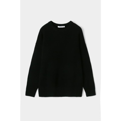 マウジー moussy SEED STITCH KNIT TOP (ブラック)