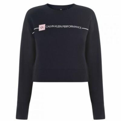 カルバンクライン Calvin Klein Performance レディース トップス ck perf graph pull Night Sky
