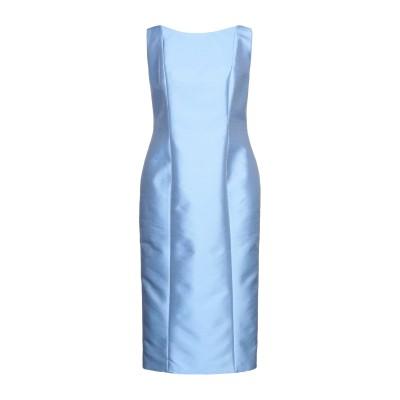 FELY CAMPO 7分丈ワンピース・ドレス スカイブルー 48 ポリエステル 87% / シルク 13% 7分丈ワンピース・ドレス