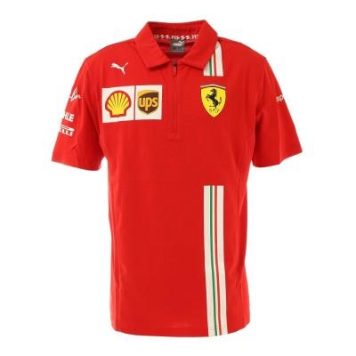 PUMAウェアフェラーリ チーム ポロシャツ 半袖 763032 02 REDレッド