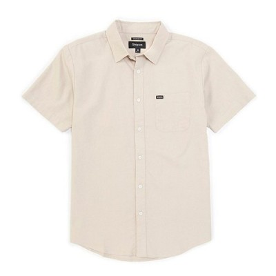 ブリクストン メンズ シャツ トップス Charter Oxford Short-Sleeve Woven Shirt