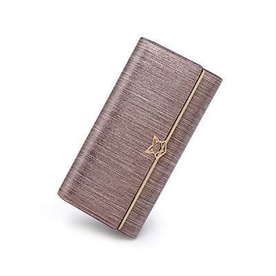 新品 Leather Trifold Wallets for Women, Genuine Leather Gift Box Packing Ladies Fashion Clutch Purses with Zipper Coin Pocket Women's Credit Card Ho