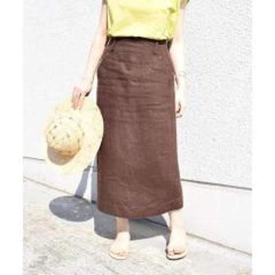 シップスヘビーリネンリベットスカート【お取り寄せ商品】