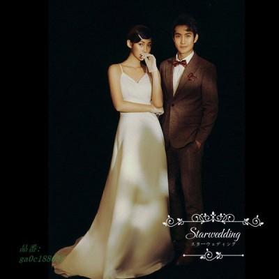 ウェデイングドレス 結婚式 二次会 旅行 前撮り ノースリーブ 高級感 ロングドレス 挙式 花嫁 後撮り ドレス パーティードレス ウエディングドレス ドレス