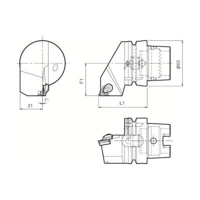 京セラ ツーリング機器 T63H−KTNR−22 1個 (メーカー直送)