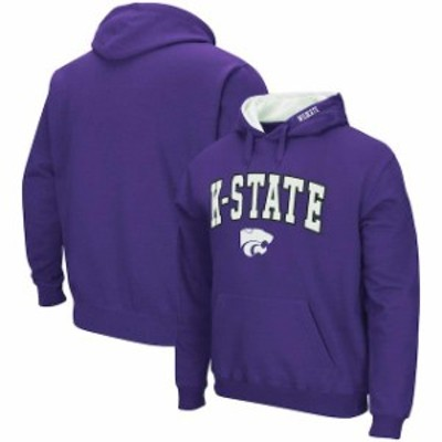 Colosseum コロセウム スポーツ用品  Colosseum Kansas State Wildcats Purple Arch & Logo Pullover Hoodie
