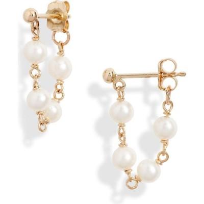 ポッピーフィンチ POPPY FINCH レディース イヤリング・ピアス ジュエリー・アクセサリー Pearl Chain Wrap Earrings Yellow Gold