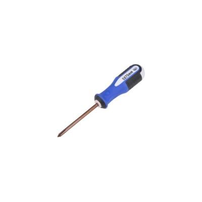 uxcell 5mmフィリップスPH2磁気ドライバー 75mm S2スチール 丸軸 非スリップ ブラック+ブルー+ホワイトハンドル