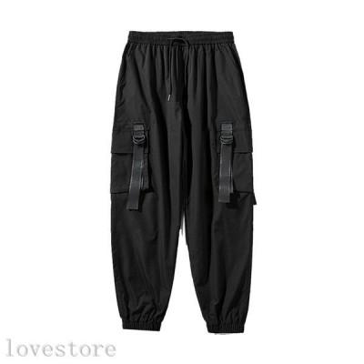 カーゴパンツ ゆったり ボトムス メンズ ロングズボン ジョガーパンツ 多ポケット付き ビッグシルエット ウェストゴム 快適 スウェット