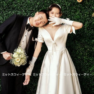 ウェディングドレス ロングドレス 結婚式 バックレス ウエディングドレス 二次会 花嫁 演奏会 前撮り エレガント サテン リゾート ワンピース