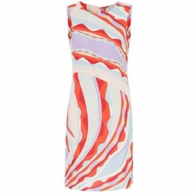 エミリオ プッチ Emilio Pucci レディース ワンピース ワンピース・ドレス Printed silk-blend shift dress Corallo/Celeste